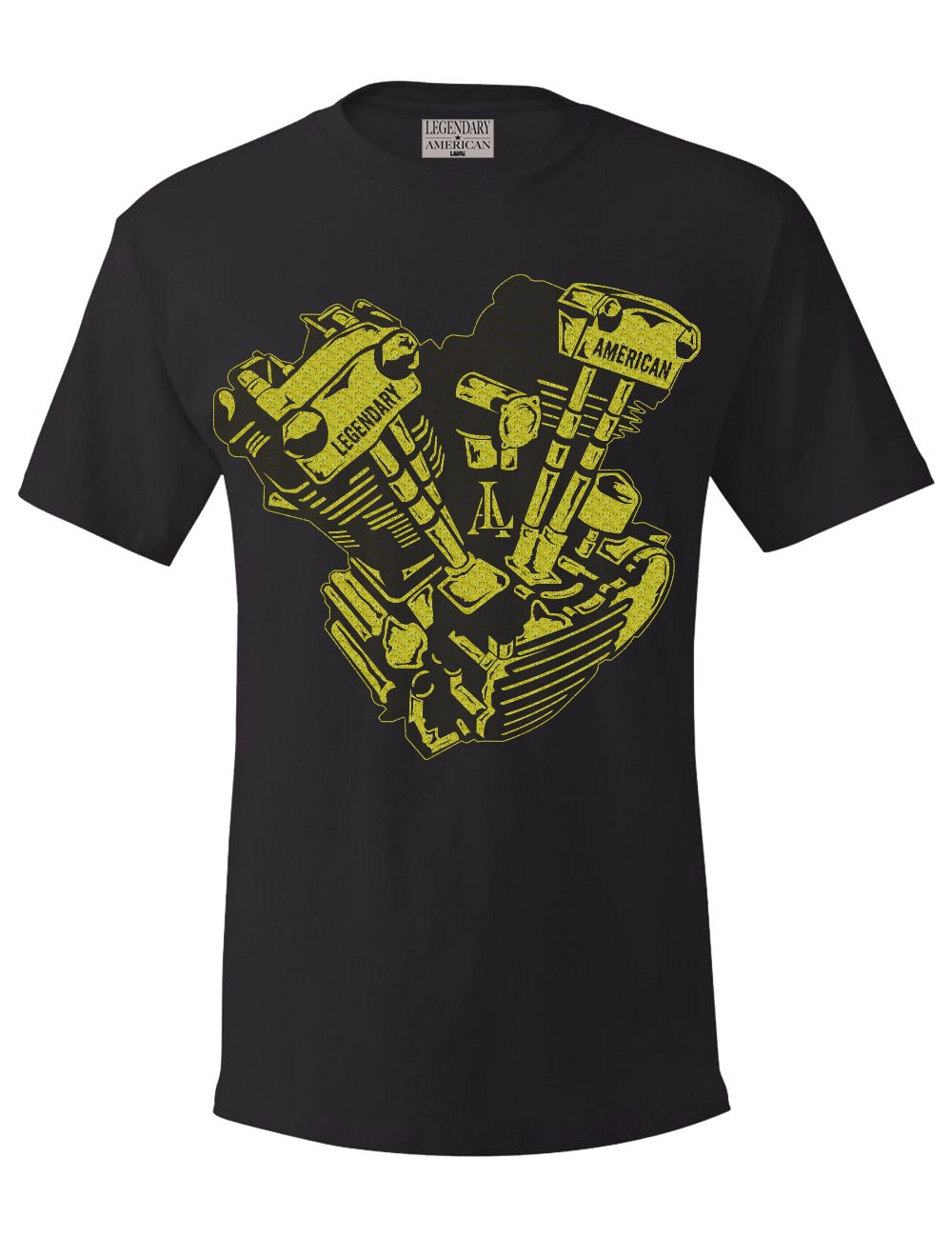Image of Legendary American Knucklehead tee - gold print
