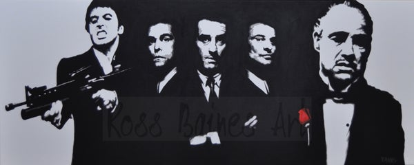 Image of 'ULTIMATE GANGSTERS'  - 24x12inch art print