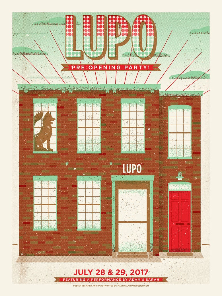 Image of Signed (by Adam and Sarah) LUPO poster