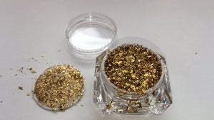 Image of Gold or Blue Holographic Flakes - 1/2 gr. jar