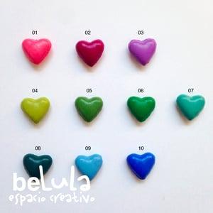 Image of Minilacre de colores en forma de corazón