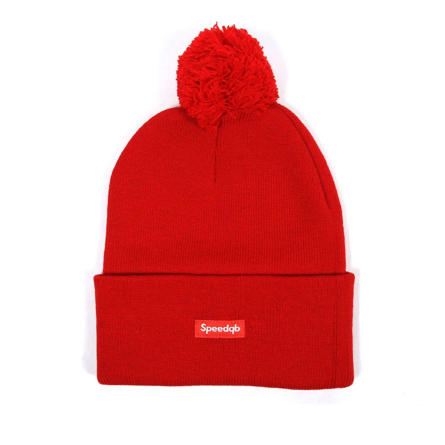 Image of SpeedQB Pom Beanie (Red)