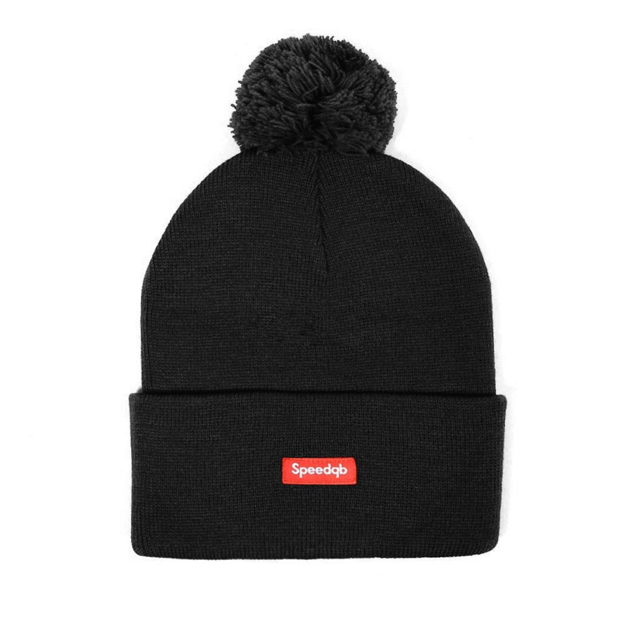 Image of SpeedQB Pom Beanie (Black)
