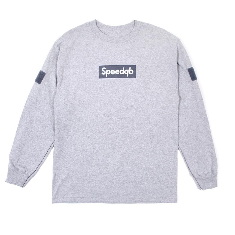 Image of SpeedQB Box Logo Longsleeve T-shirt - H.Grey