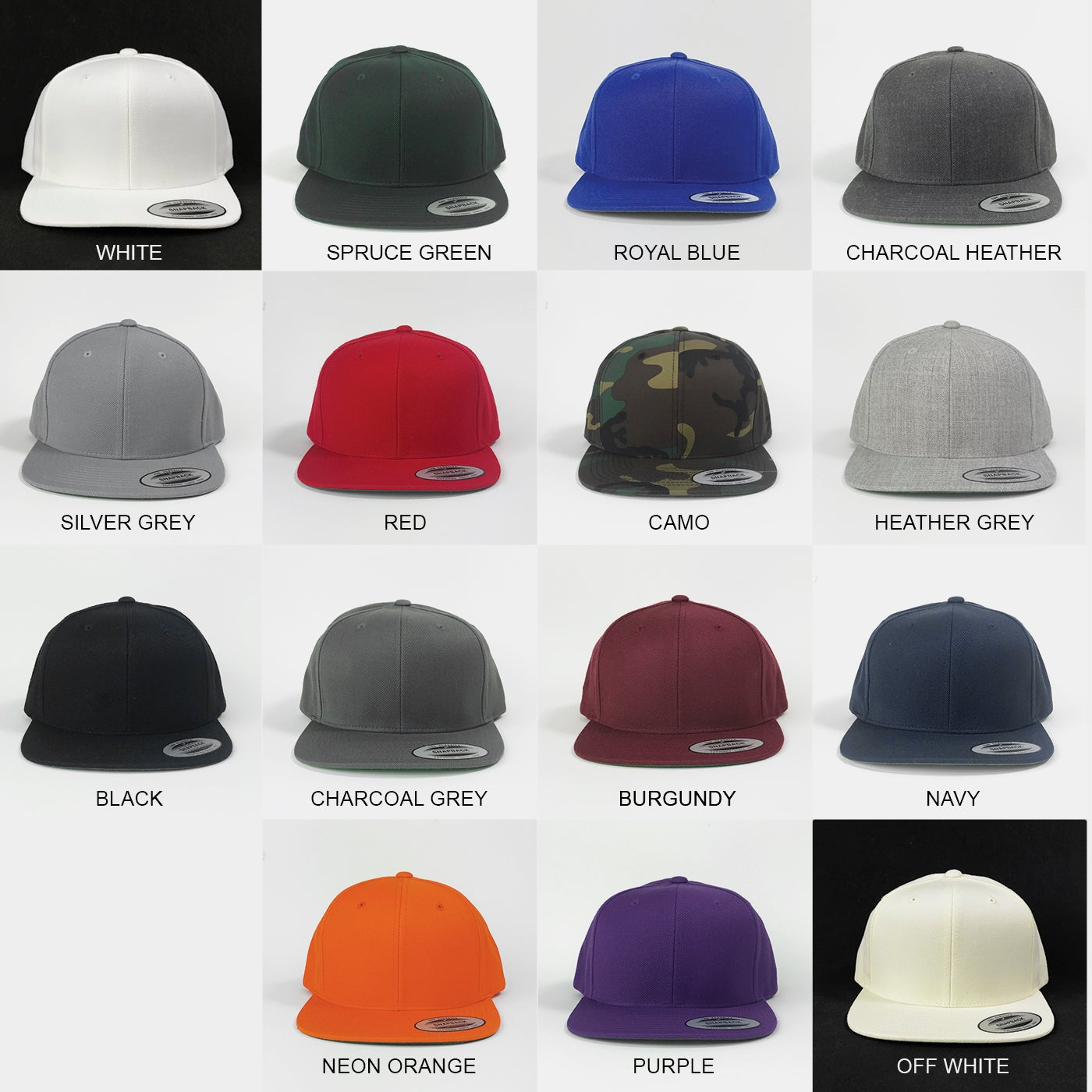 SoCal Stitches — Yupoong Classic Snapbacks - 12 Hats + Embroidery 7cdcfb37962