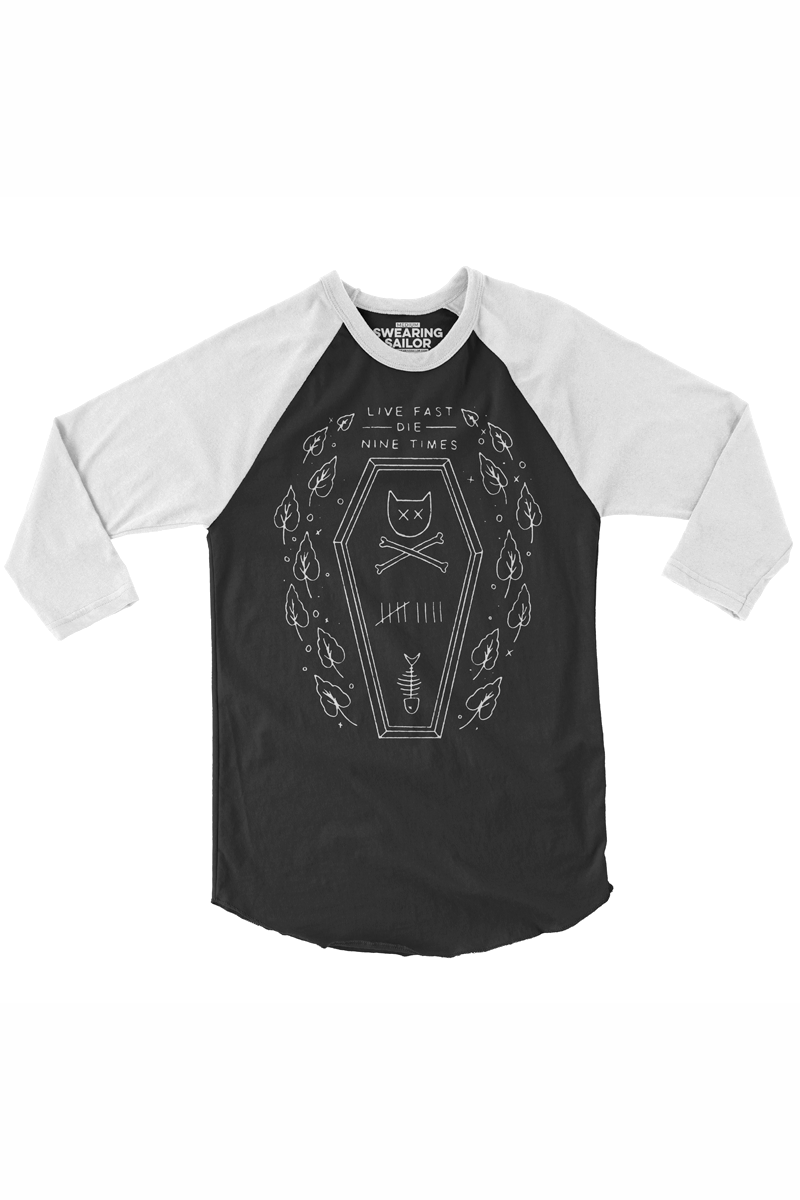 Image of LIVE FAST • DIE 9 TIMES BASEBALL TEE