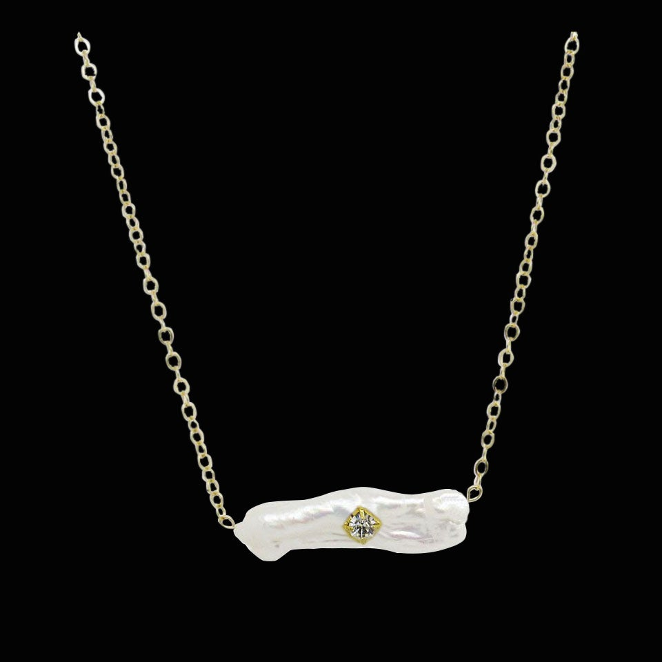 Image of Mother of Pearl Bar Necklace