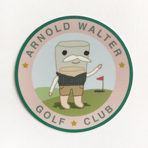 "Image of Arnold Walter - 3"" sticker"