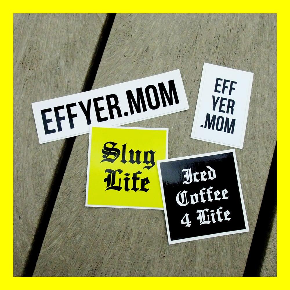 eff yer mom sticker pack for jerks eff yer mom