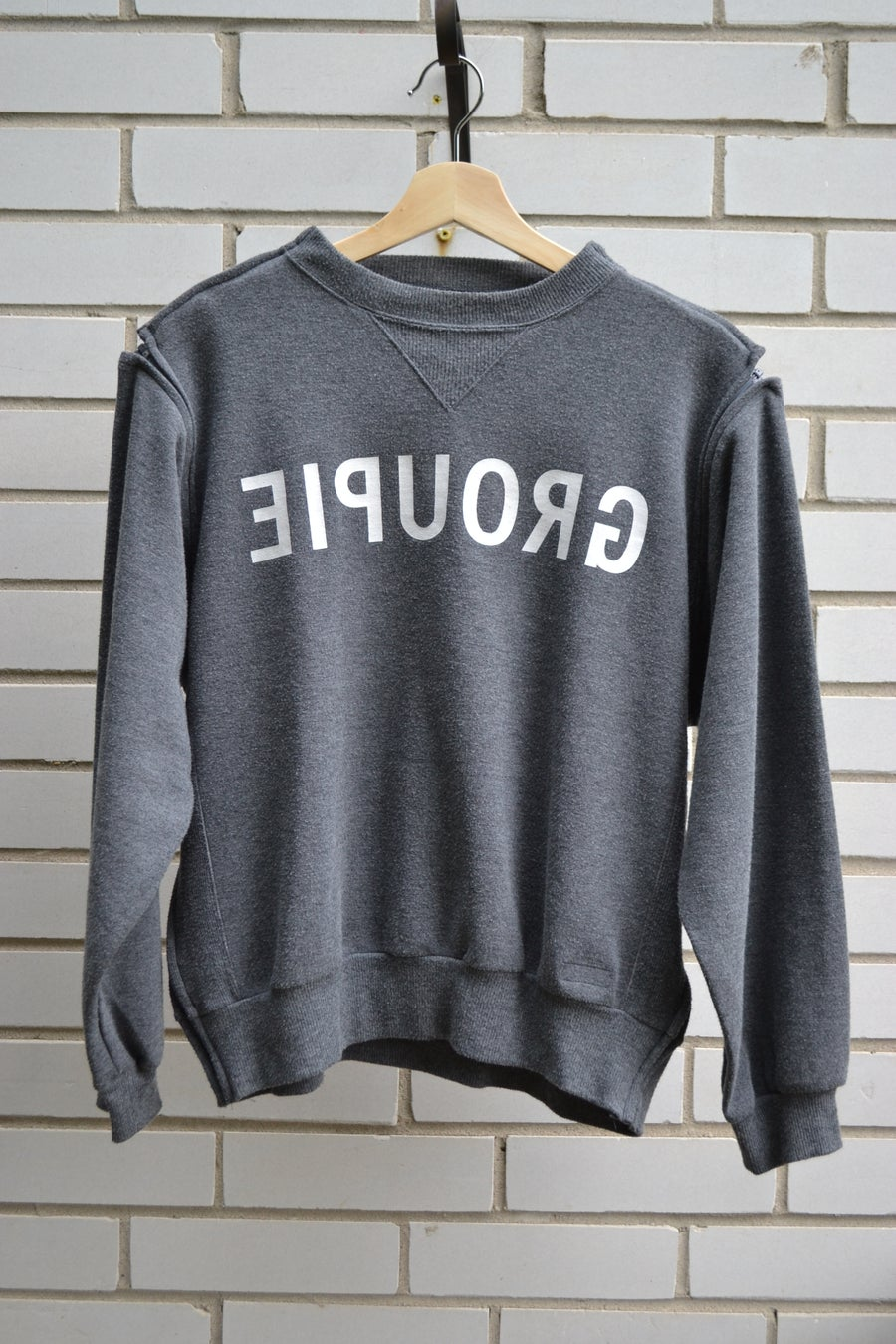 Image of Undercover SS1999 Zipper 'Groupie' Grey Sweater Crew Neck