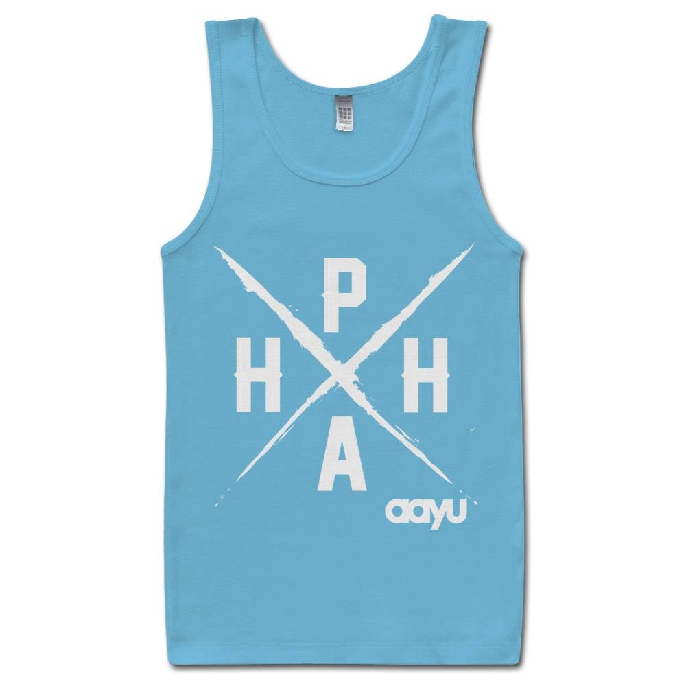 Image of PAHH Tank Carolina Blue/White