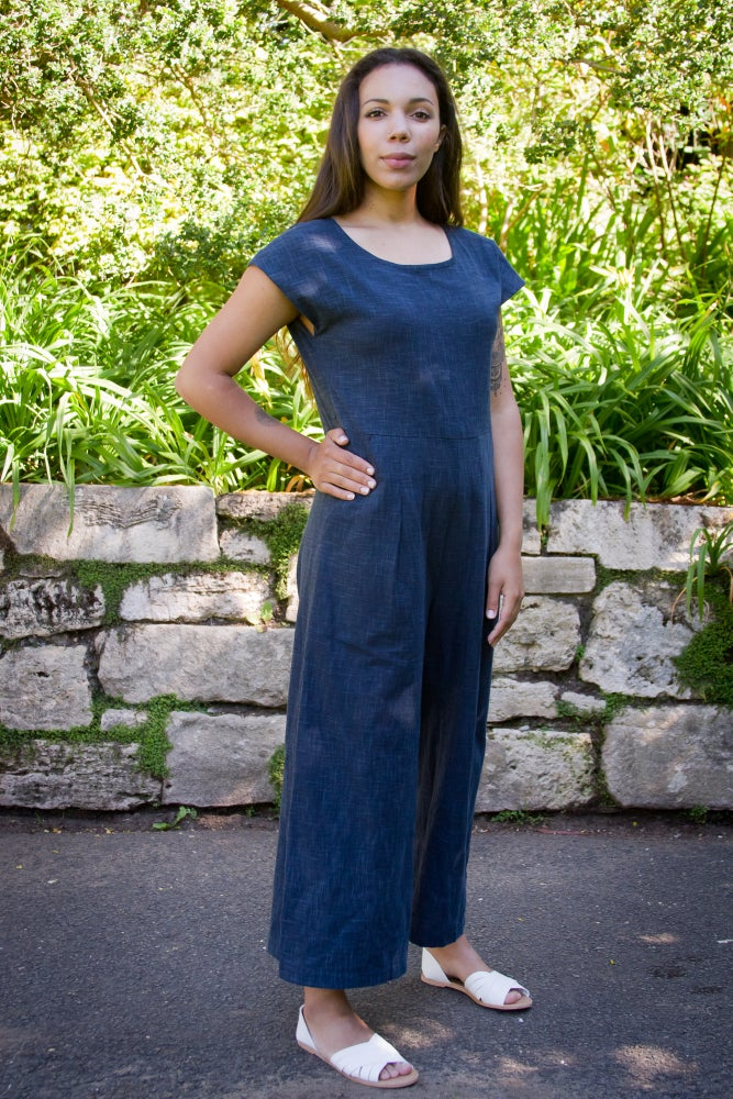 Image of Indigo Murazome Motion Jumpsuit