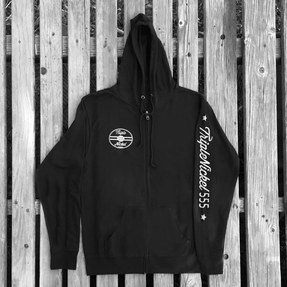 Image of Triple Nickel 555 Zip-Up Hoodie