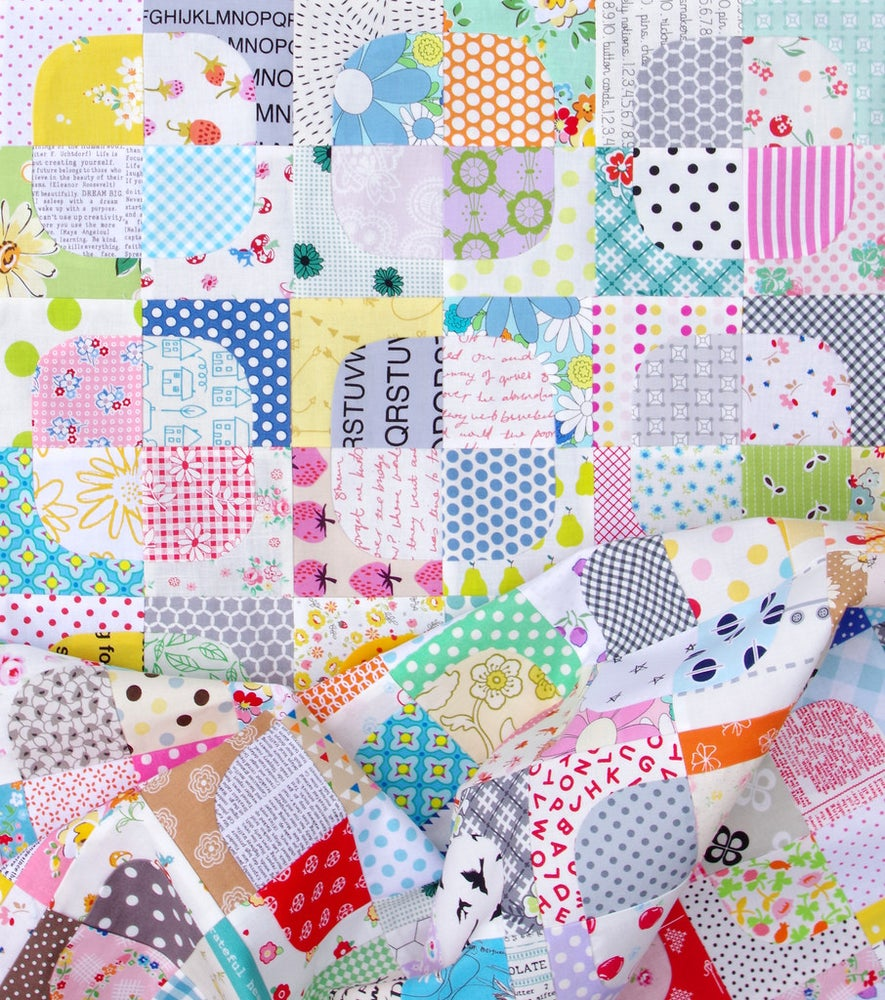 Image of Squircle Quilt Block Templates - Drunkard's Path Variation - TEMPLATES ONLY