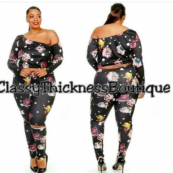 Image of Floral/PolkaDot Legging Set