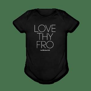 Image of Babies LOVE THY FRO Short Sleeve Bodysuit