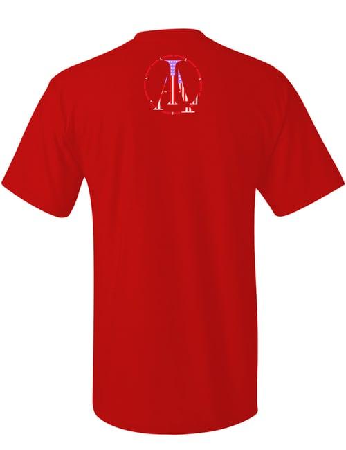 Image of Legendary American LA logo tee in red