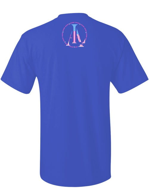 Image of Legendary American Dont Tread tee in blue