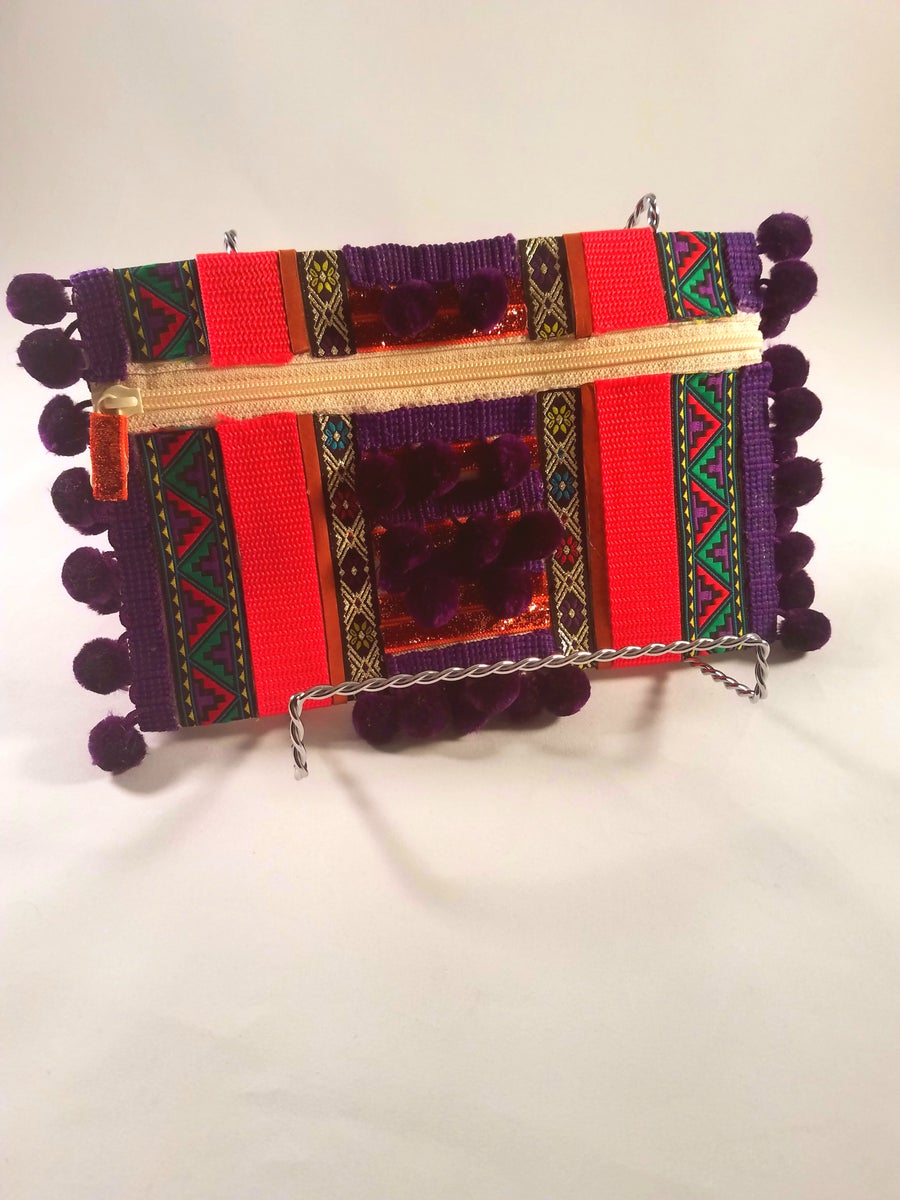 Image of Purple Boho Clutch