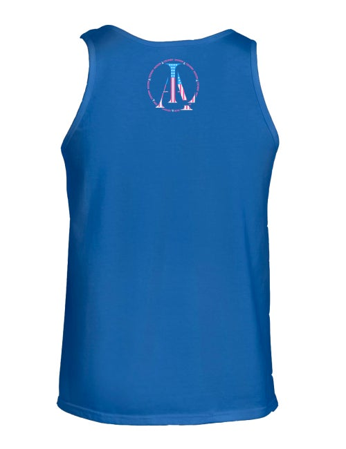 Image of Legendary American Anchor tank top in blue