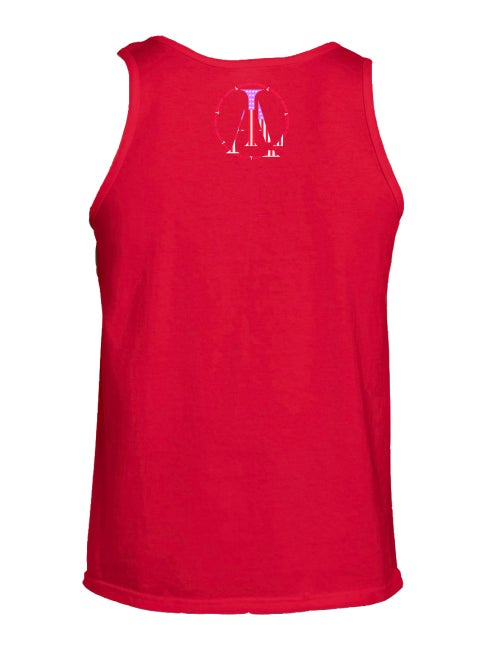 Image of Legendary American Anchor tank top in red