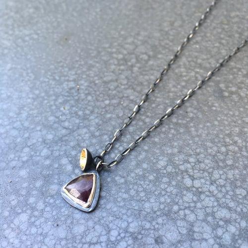 Image of Acacia Single Drop Pendant with Sapphire