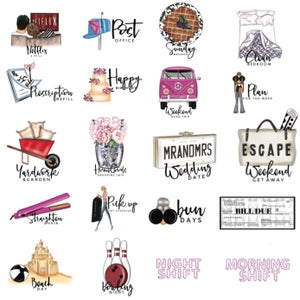 Image of Set 1 Chic Mini Icon Planner Stickers