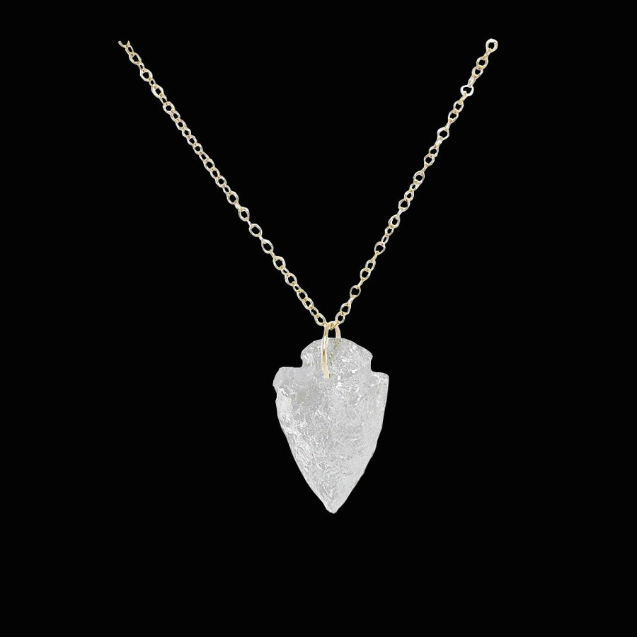 Image of Crystal Quartz Arrowhead Necklace