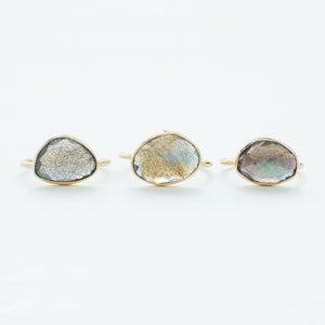 Image of WINNOW Labradorite Rose Cut Ring