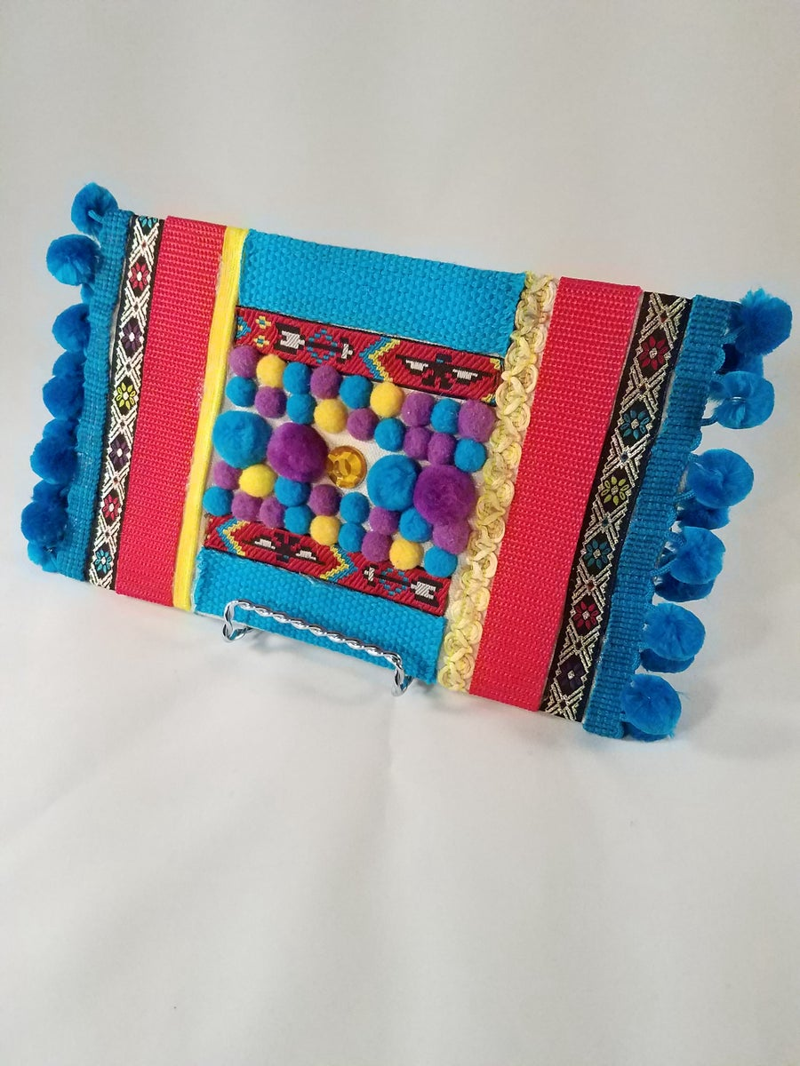 Image of Blue Boho Clutch