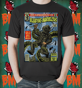 Image of Bleading Marvelous Logo Cthulu underwater T