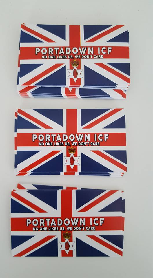 Image of Portadown ICF No One Like Us Football/Ultras Stickers 10x6cm. 25 pack.