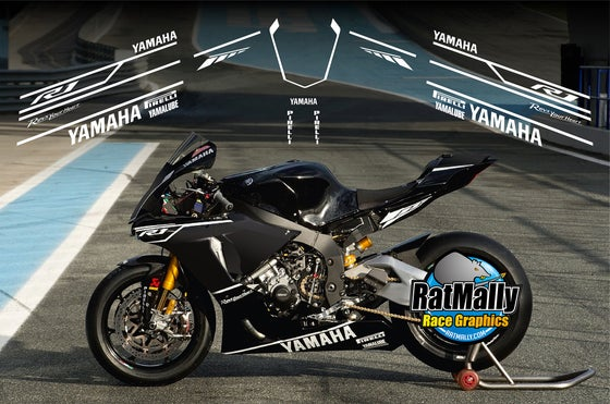 Image of Winter Test graphics. To fit Yamaha R1 2015> or similar