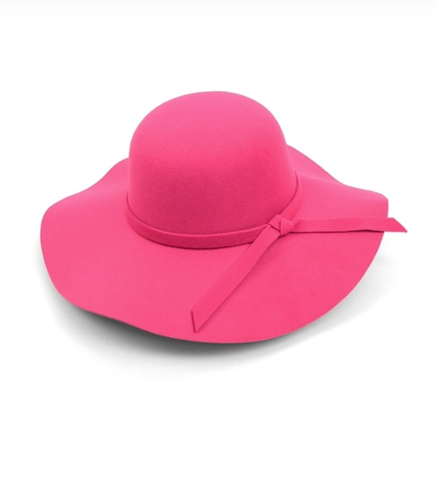 Image of Women's Poly Felt Wide Brim Floppy Hat