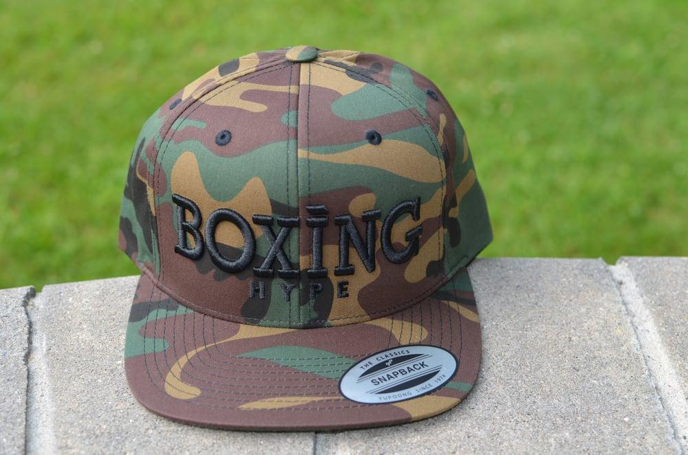 Image of Limited Edition camo BoxingHype Logo SnapBacks