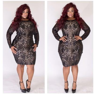Black Out Dress - Plus Size Fashionz