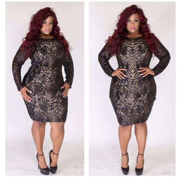 Black Out Dress - Plus Size Fashionz