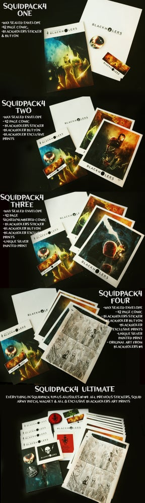 Image of BLACKHOLERS #4 & SQUIDPACKS