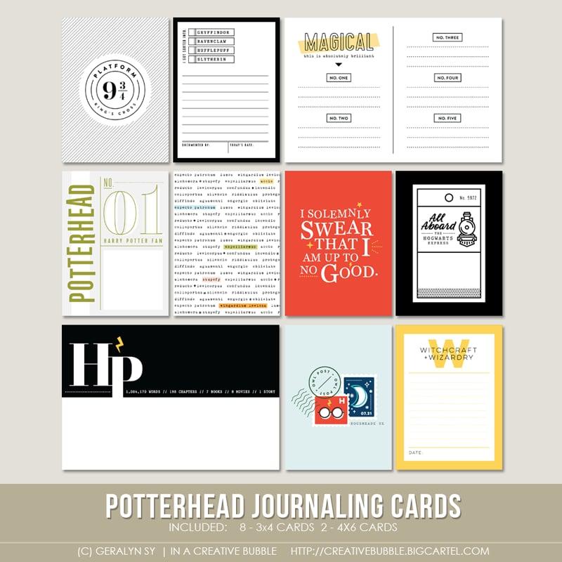 Image of Potterhead Journaling Cards (Digital)