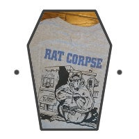 Rat Biscuits T-Shirt, Grey Long Sleeve.