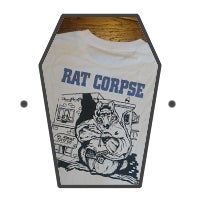 Image of Rat Biscuits T-Shirt, White Long Sleeve.