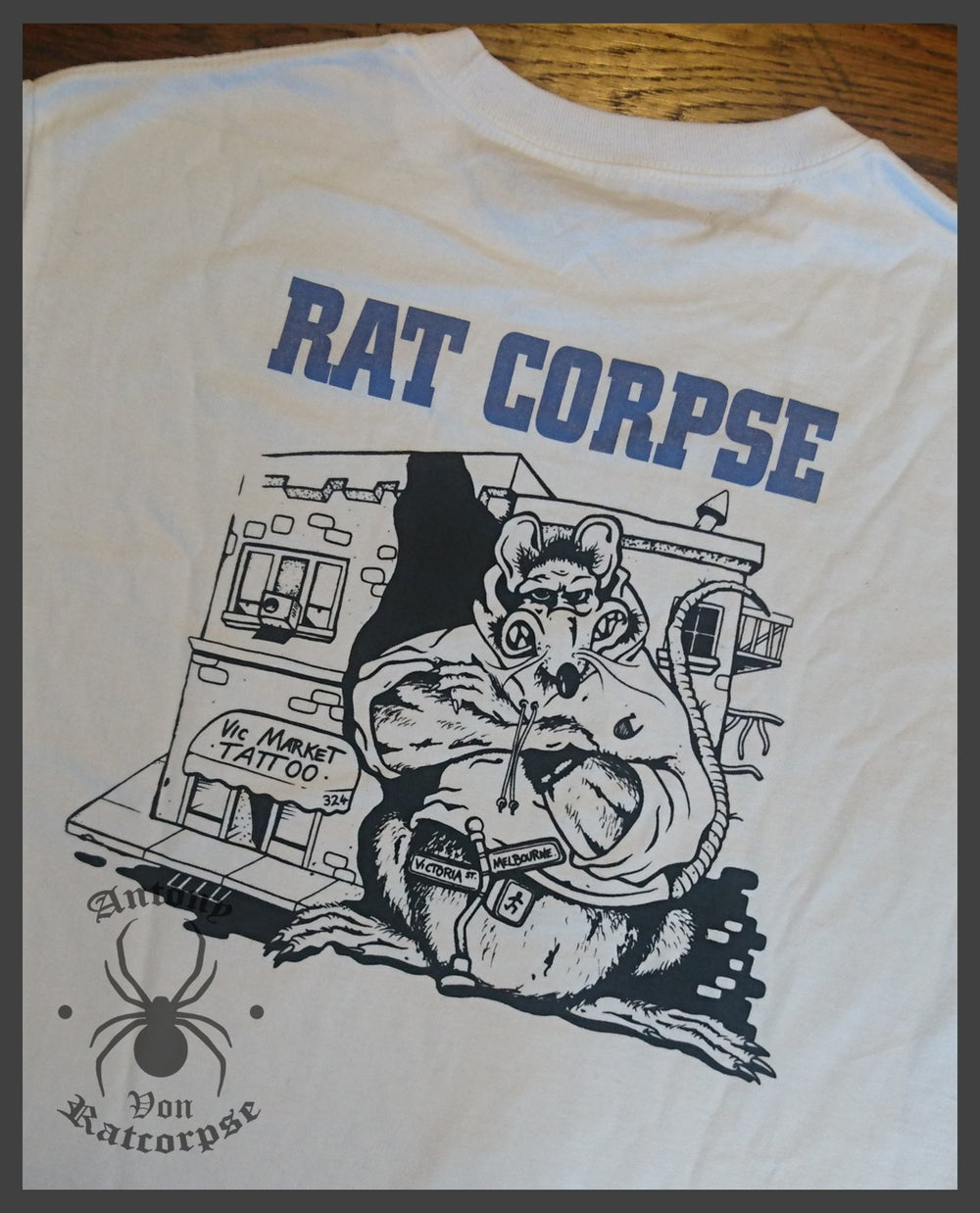 Rat Biscuits T-Shirt, White Short Sleeve.