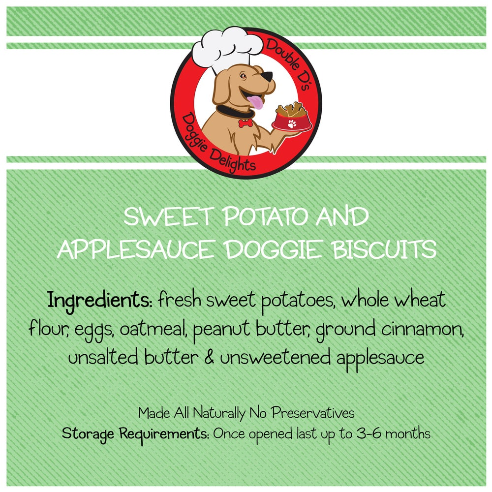 Image of Crunchy Sweet Potato & Applesauce Doggie Biscuits