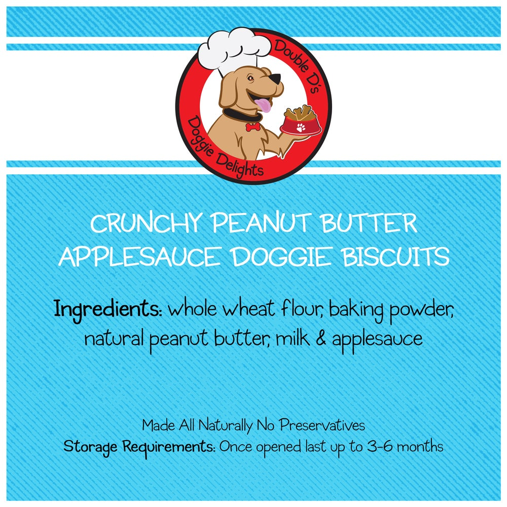 Image of Crunchy Peanut Butter Applesauce Doggie Biscuits