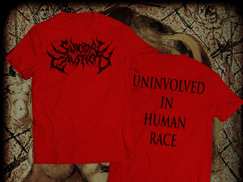 Image of LOGO Suicidal Causticity RED T-Shirt