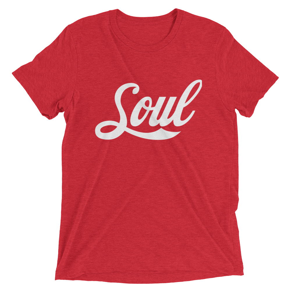 Image of Soul (Coke Font/Red Triblend/White)