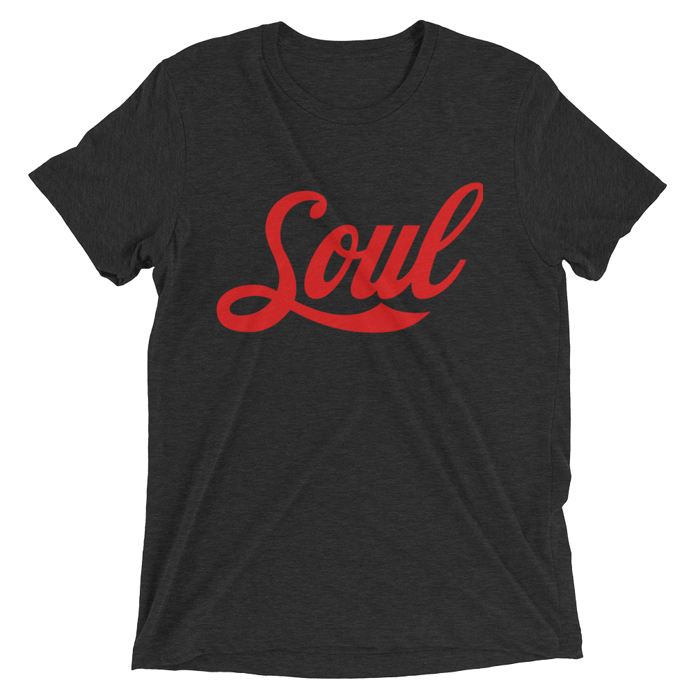 Image of Soul (Coke Font/ Charcoal Blk/ Triblend/Red)