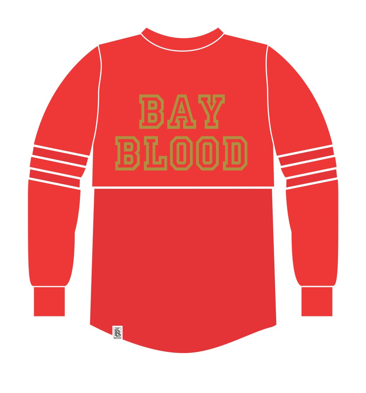 Women S College Shirt Red Gold Bay Blood Clothing