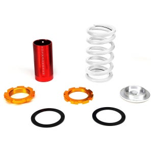 "Image of White/Red/Gold Adjustable Coilovers 1-4"" Drop"