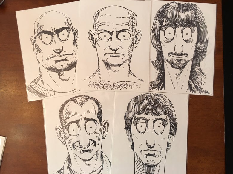 Image of Black Flag Bob's Burgers Damaged Portraits